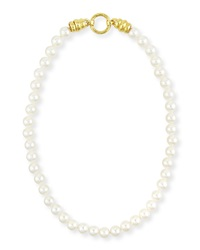 Single Strand Pearl Necklace With Martin Clasp Elizabeth Locke