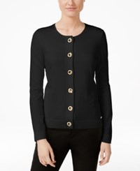 Calvin Klein Toggle Hardware Cardigan Black