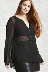 Forever 21 Plus Size Sheer Shirt