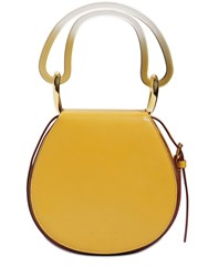 Marni Melville Leather Shoulder Bag Yellow Blue
