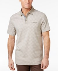 Tasso Elba Men's Cotton Birdseye Polo Only At Macy's City Taupe