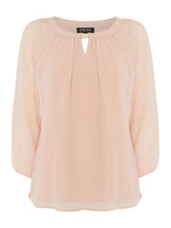 Episode Long Sleeve Top With Gold Hardwear Blush