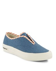 Seavees Sunset Regatta Striped Sneakers Blue