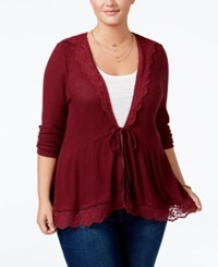 American Rag Trendy Plus Size Peplum Cardigan Only At Macy's Zinfindel