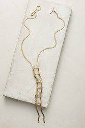 Anthropologie Roxana Ladder Necklace Clear
