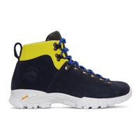 Diemme Navy Suede Maser Hiker Lace Up Boots