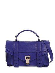 Proenza Schouler Ps1 Tiny Lux Leather Top Handle Bag Saphire
