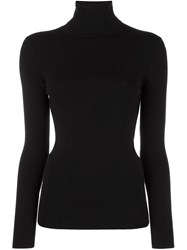 Joseph Turtle Neck Jumper Black