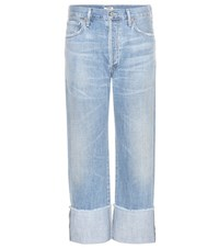 Citizens Of Humanity Parker Relaxed Cuffed Crop Jeans Blue