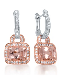 Roma Morganite And Diamond Drop Earrings Frederic Sage