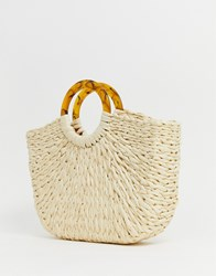 Pimkie Bag With Natural Effect Handle In Beige