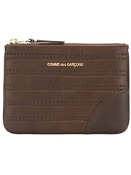 Comme Des Garcons Gara Ons Wallet 'Embossed Stitch' Wallet Brown