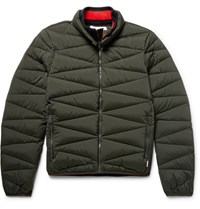 Orlebar Brown Newland Quilted Stretch Nylon Down Jacket Dark Green