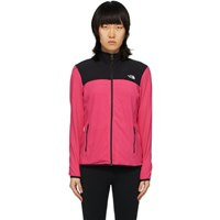The North Face Pink And Black Tka Glacier Full Zip Pullover