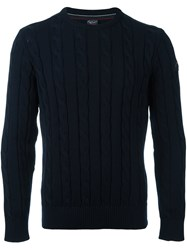 Paul And Shark Chain Knit Pullover Blue
