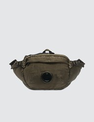 C.P. Company Cp Garment Dyed Nylon Sateen Lens Waist Bag Green
