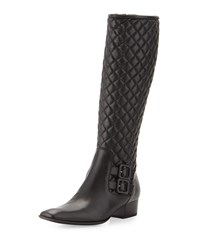 Sesto Meucci Delice Quilted Knee Boot Black