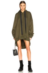 Marques Almeida ' Asymmetric Hoodie In Green