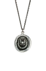 Women's Pyrrha 'Never Look Back' Talisman Pendant Necklace Silver