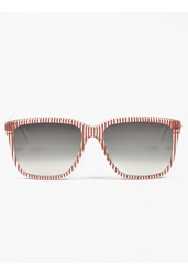Sheriffandcherry G12 Red Striped Sunglasses