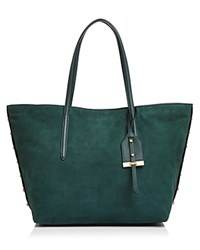 Botkier Madison Suede Tote Emerald Green Gold