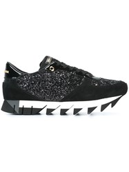 Dolce And Gabbana 'Capri' Glitter Sneakers Black