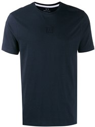 Armani Exchange Logo Patch T Shirt Blue