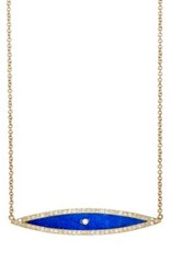 Jennifer Meyer Women's Evil Eye Pendant Necklace Navy