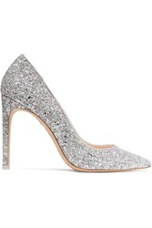 Sophia Webster Rio Glittered Leather Pumps Silver
