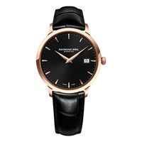 Raymond Weil 5488 Pc5 20001 Men's Toccata Leather Strap Watch Black