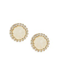 Tai Cubic Zirconia Bezel Stud Earrings Gold