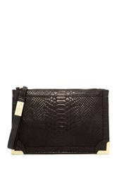 Foley Corinna Genesis Leather Wristlet Black