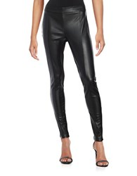 Vero Moda Leatherette And Faux Suede Leggings Black