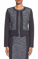 Women's Classiques Entier 'Ocean Tweed' Collarless Tweed And Ponte Jacket