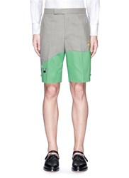 Thom Browne 'Beach Story' Embroidered Patchwork Shorts Multi Colour
