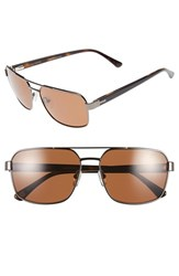 Men's Ted Baker London 59Mm Navigator Sunglasses Gunmetal