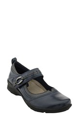 Earthr Women's Earth 'Angelica' Mary Jane Flat Navy Leather