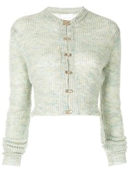 Alice Mccall Cropped Cardigan Green