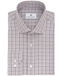 Ryan Seacrest Distinction Men's Slim Fit Non Iron Wine Dress Shirt Only At Macy's Dark Red