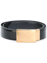 Marc Jacobs Gold Buckle Plaque Belt Black