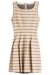 Azzedine Alaia Dotted Dress Beige