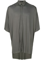 Unconditional Oversized Short Sleeve Shirt Rayon Green
