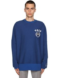 Calvin Klein 205W39nyc University Logo Printed Cotton Sweater Blue