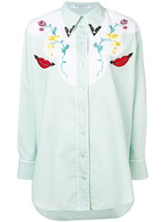 Vivetta Embroidered Western Shirt Green