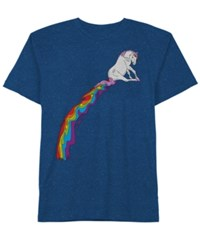 Hybrid Men's Magical Rainbow Cotton T Shirt Classic Blue