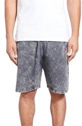 Eleven Paris Men's Elevenparis 'Rufin' Washed Drawstring Shorts Grey Wash