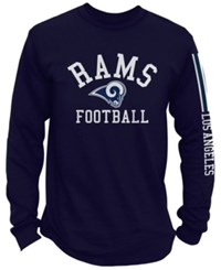 Nfl Authentic Apparel Men's Los Angeles Rams Spread Formation Long Sleeve T Shirt Navy