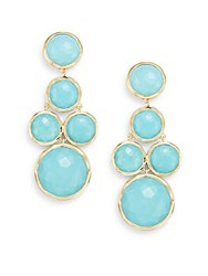 Ippolita Lollipop Turquoise And 18K Yellow Gold Chandelier Earrings Gold Turquoise