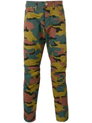 G Star Camouflage Print Trousers Green