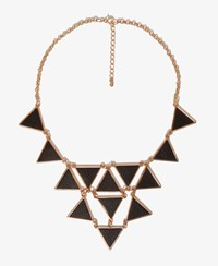 Forever 21 Faux Leather Triangle Charm Necklace